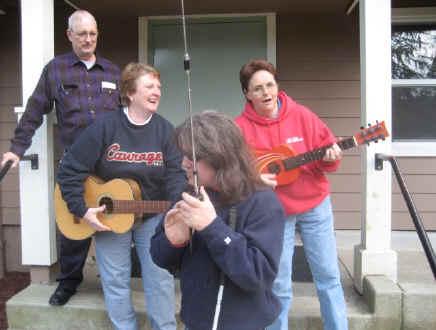 Dennis, N0CCR, Matt, KA0PQW (front), Kathy & Colleen