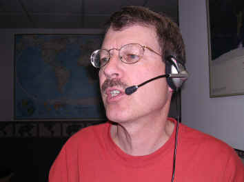 Pat, WA0TDA, with headset microphone