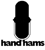 small handiham logo with microphone in the center